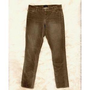 BANANA REPUBLIC Gray Corduroy Skinny Pants
